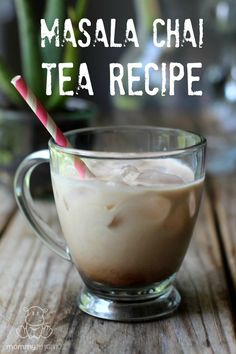 """Delicious both hot and served over ice, this masala chai tea recipe is infused with warming spices, black tea and adaptogenic herbs which """"increase the body's resistance to physical, biological, emotional, and environmental stressors."""""""