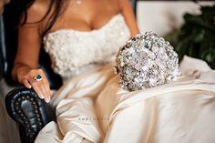 Gorgeous Broach bouquet! Photography by Kristen Weaver