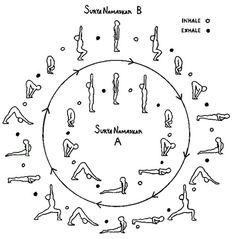 13 best sun  moon salutations images  yoga sequences