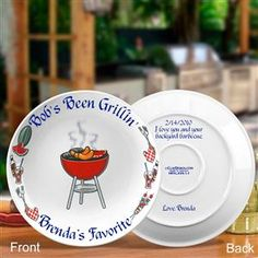Personalized Bar-B-Cue Platter with Your Personal Private Message on the Back