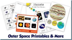 Free Outer Space Theme Printables from 1+1+1=1