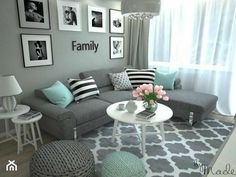 turquoise and grey living room / turquoise and grey living room , turquoise and grey living room ideas , turquoise and grey living room decor , turquoise and grey living room teal Mint Living Rooms, Living Room Turquoise, Classy Living Room, Living Room Decor Colors, Living Room Color Schemes, Living Room Grey, Living Room Interior, Room Decor Bedroom, Room Colors