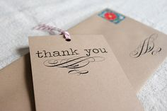 diy thank you notes!