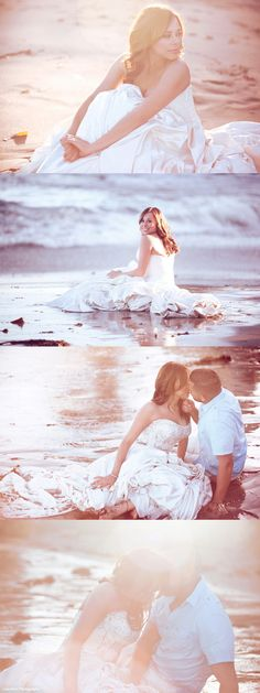 trash the dress. beach { I DON'T CARE WHAT ANYONE SAYS.....I'M DOING TRASH/WRECK THE DRESS WHEN I GET MARRIED }