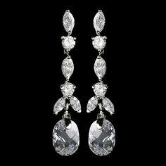 Elegant Dainty Crystal & Cubic Zirconia Earrings E 9018