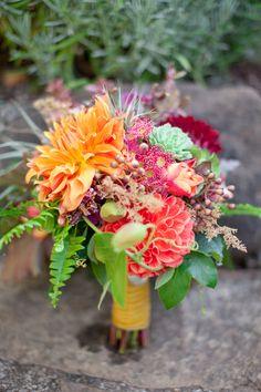 Gorgeous Dahlia Wedding Bouquet ~ we ❤ this! moncheribridals.com