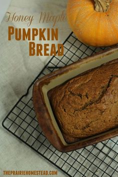 A healthier pumpkin bread option that uses maple syrup, honey, and coconut oil instead of refined sugar and canola oil!