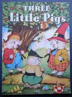 ''Three Little Pigs'', Copyright 1941 Whitman Publishing Co., illustrations by Eileen Fox Vaughan.