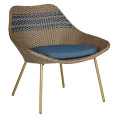 Buy John Lewis Havana Lounging Armchair, Brown / Blue Online at johnlewis.com