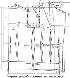 COSTUR@NDO: Patrón Basico de la Chaqueta de Mujer Ajustada. Corsage, Victorian Pattern, Tailoring Techniques, Blazer Pattern, Modelista, Sewing Class, Pattern Drafting, Pattern Blocks, Pattern Making