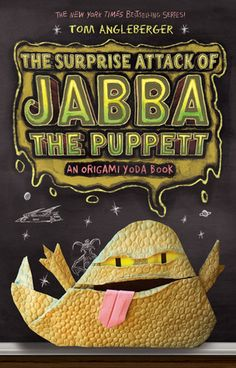 September 2013 Book Fairy visit to 4th grade: The Surprise Attack of Jabba the Puppett by Tom Angleberger | The students of McQuarrie Middle School struggle to rid the school of the despised test preparation program. With humor and creativity Dwight, Origami Yoda, and friends look for a solution. Book number four in the series.