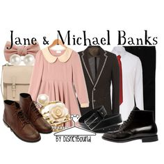 """""""Jane & Michael Banks"""" by lalakay on Polyvore  Wei Wei WILL HAVE THIS!"""