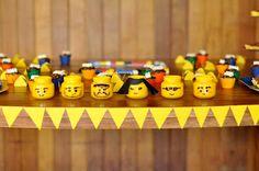 Lego head baby food jars!  I want to make so many.