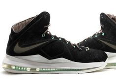 811e9777a20e THE SNEAKER ADDICT  Nike Lebron 10 EXT Black Suede Mint X Sneaker (Detailed