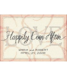 Dimensions Wedding Record Mini Counted Cross Stitch Happily Ever AfterDimensions Wedding Record Mini Counted Cross Stitch Happily Ever After,