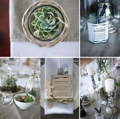 Jar full of wishes Succulent Table Decor, Real Big, Cool Tables, Wedding Wishes, Rustic Interiors, Rustic Design, Wedding Planning, Wedding Ideas, Wedding Stationery