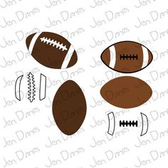 Football laces SVG, SVG cutting files for Cricut Silhouette, football SVG design, football designs cut, sports svg - pinned by pin4etsy.com