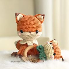 Crochet Fox Toy and Teether Crochet Baby Toys, Crochet Teddy, Crochet Fox, Crochet Toys Patterns, Amigurumi Patterns, Crochet Animals, Stuffed Toys Patterns, Baby Set, Fox Toys