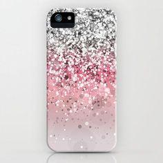 Pink. Pink Glitter. Pink Glitter Phone   Case. iPhone Case. Pink Glitter Accessories. Pretty in Pink.
