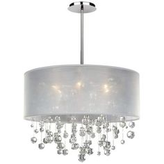 House of Hampton Heiser Drum Chandelier - All For Decoration Contemporary Chandelier, Modern Pendant Light, Transitional Chandeliers, Pendant Chandelier, Pendant Lighting, Kitchen Chandelier, White Chandelier, Chandelier Shades, Home Lighting