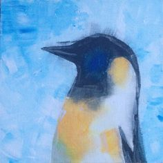 Penguin acrylic on canvas made by pinner dreaminginwhite