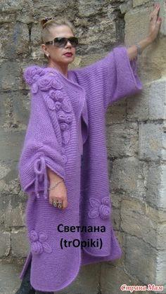 Knit Cardigan Pattern, Crochet Cardigan, Crochet Shawl, Crochet Coat, Knitted Coat, Crochet Clothes, Knit Fashion, Boho Fashion, Denim Ideas