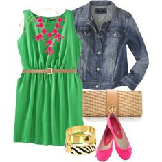 """""""Pink & Green - Plus Size"""" by alexawebb on Polyvore"""