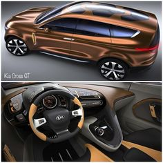 The new KIA Cross GT looks like the perfect crossover vehicle with contemporary interior details and a unique roof design