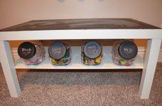 Small Toy Organization- The Perfect Jar