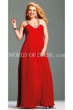 Red Plus Size Bridesmaid Dresses