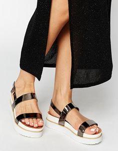 a809c5ec718 Park Lane Strap Flatform Sandals at asos.com