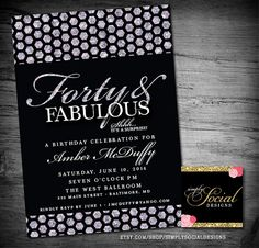 Glam Surprise 40th 50th 60th Birthday Party door SimplySocialDesigns
