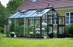 Kasvihuone Juliana Premium 13,0 m² turvalasilla, harmaa runko