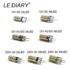 LEDIARY 10PCS LED G4 Bulb Mini Corn Bulb DC12V AC/DC12V  220V 24LED/48LED/64LED Cold/Warm White 1W LED Can Replace 10W Halogen