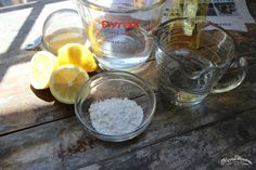 Natural, homemade  window cleaner