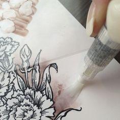 Coloring Backgrounds with copics - bjl - Jennifer Dove