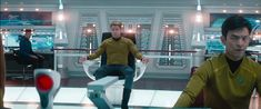 screencap from the 2013 movie,'Star Trek Into Darkness' starring Starring Chris Pine, Zachary Quinto and Zoe Saldana. Star Trek 2009, Famous Movie Directors, Star Trek Bridge, Star Trek Reboot, Still Frame, Star Trek Into Darkness, Star Trek Movies, Zachary Quinto, Call Backs