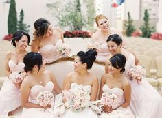 Marie Antoinette themed Wedding + An Elegant Kenneth Poole Wedding Dress   Blush bridesmaid dresses by Ivy & Aster   Fab Mood