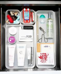 Everything you need in your desk drawer: http://intothegloss.com/2013/11/work-makeup-kit/