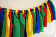 Caillou Fabric Tie Garland  Caillou Garland  by ThePartyTeacher