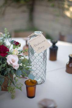 Bohemian Fall Backyard Wedding – Table Names of City Spots