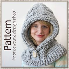 51 Degrees North - Crochet Hooded Cowl, pattern for purchase Crochet Hooded Cowl, Hooded Scarf, Knit Crochet, Crochet Hats, Free Crochet, Hood Pattern, Free Pattern, Knitting Patterns, Crochet Patterns