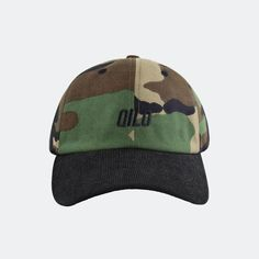 Qilo Two-Tone Cap in M81 Woodland / Black Corduroy Brass Buckle, Off Duty, Black Satin, Fabric Patterns, Corduroy, Woodland, Baseball Hats, Cap, Legs