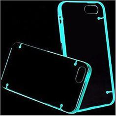 Effet fluorescent après l'allumage transparent Retour Case pour iPhone 5C (couleurs assorties)