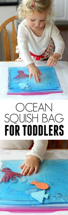 Simple Ocean Squish Bag for Toddlers