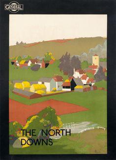 General/The North Downs by E. Legg (1929)   Shop original antique posters online: www.internationalposter.com