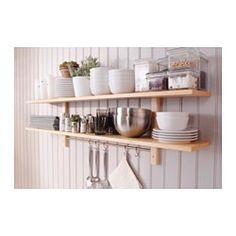 Superieur VÄRDE Wall Shelf With 5 Hooks Birch 140 X 50 Cm