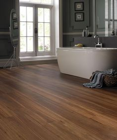 wood laminate and grey bathroom - Google Search