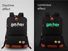 Harry Potter Backpack School Bag Children Student Boys Girls Luminous Backpack