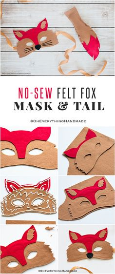 Hi there, my daughter has a Noah's Ark Day costume party next week, where the children go to a nearby retirement home to sing and perform for them. It's super sweet and I really wanted to make it special for her.  Glad I finally found some time to finish her No Sew Felt Fox Mask & Tail costume, I can't wait to see her wearing it!